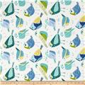 Tempo Indoor/Outdoor Chickadees White/Blue/Spa