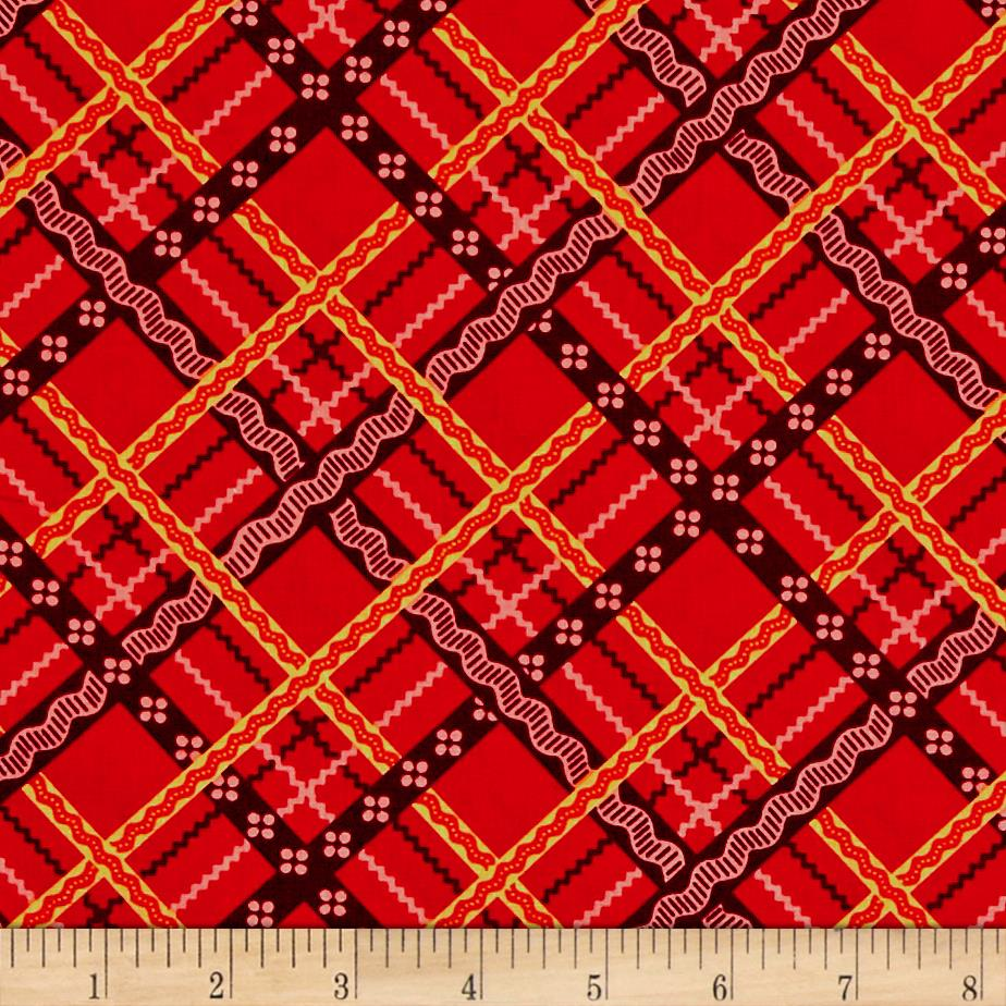 Peaceful Gathering Plaid Red