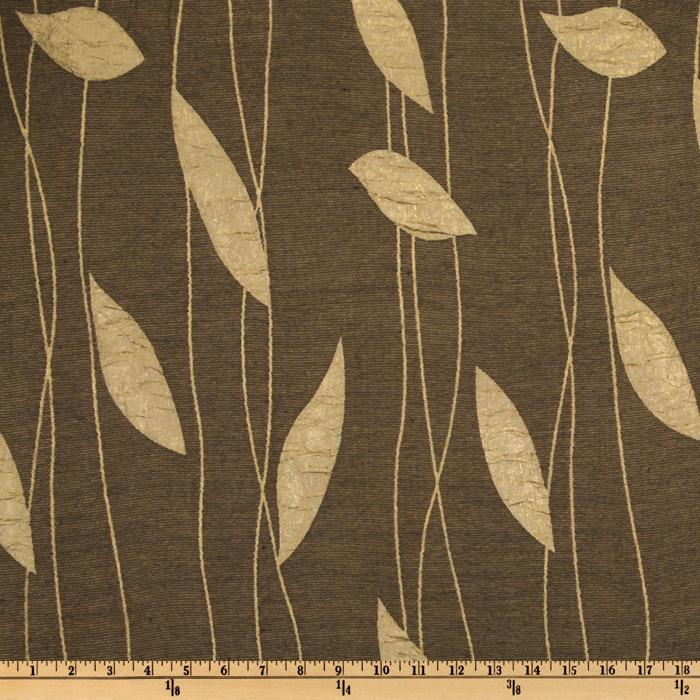 Struttura Jacquard Leaves Dark Coffee