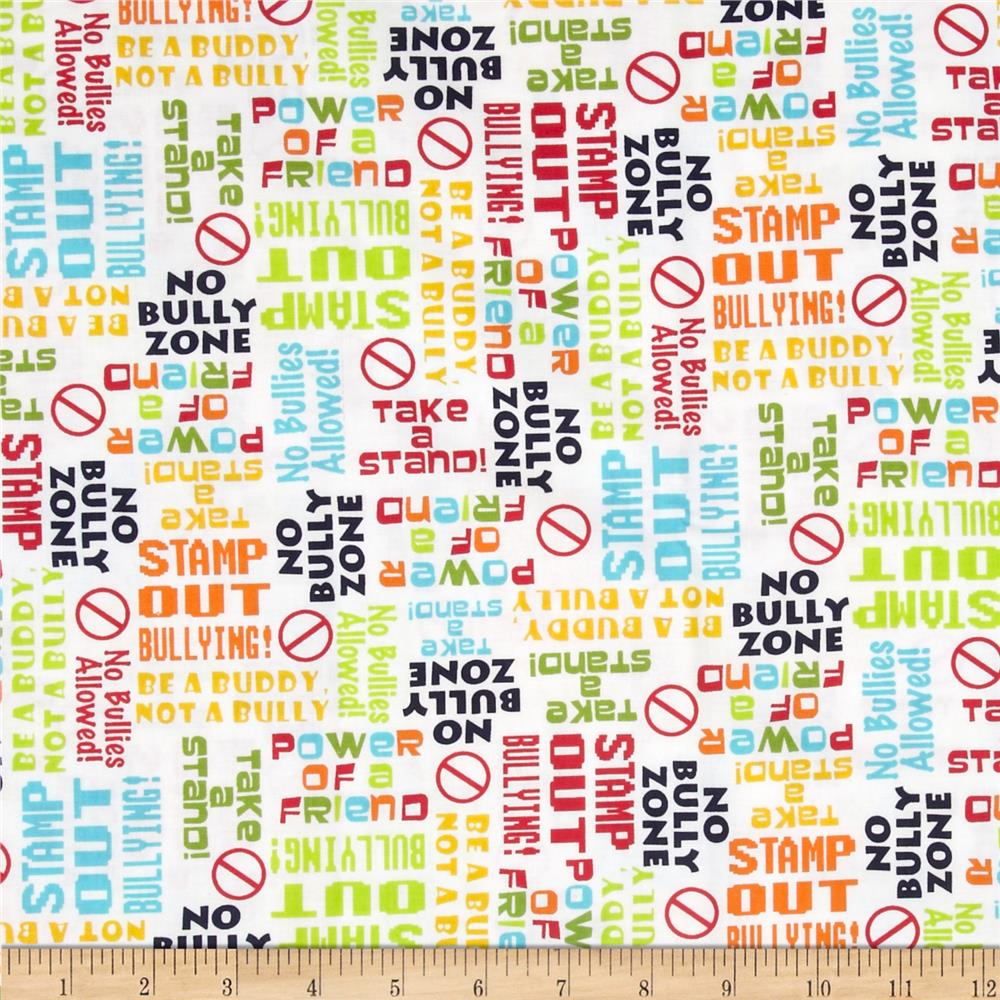 Take A Stand Anti-Bullying Slogans White