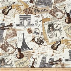 Timeless Treasures Paris Music Neutral