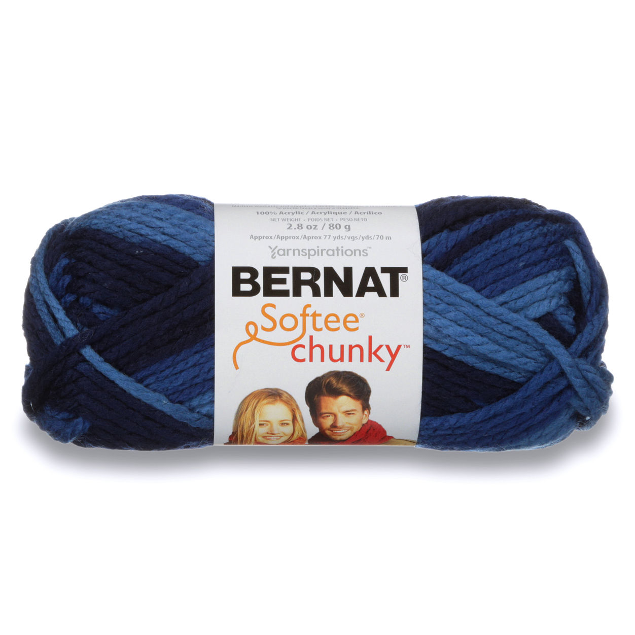 Bernat Softee Chunky Yarn (29119) Denim Ombre