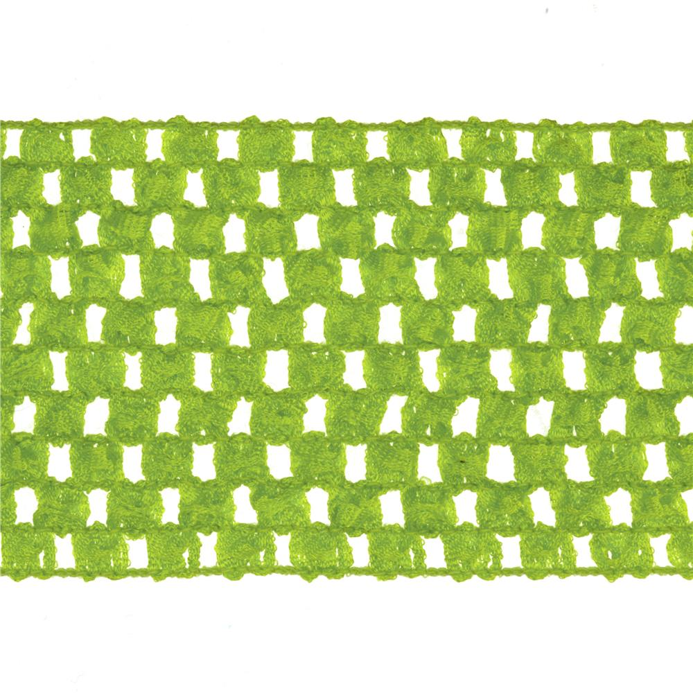 "2 3/4"" Crochet Headband Trim Lime"