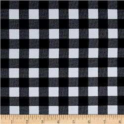 Cotton Rayon Challis Gingham Black/White