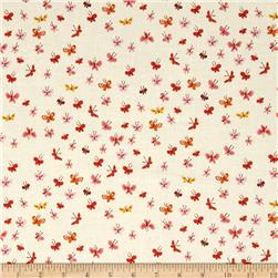 Heather Ross Tiger Lily Butterflies Cream