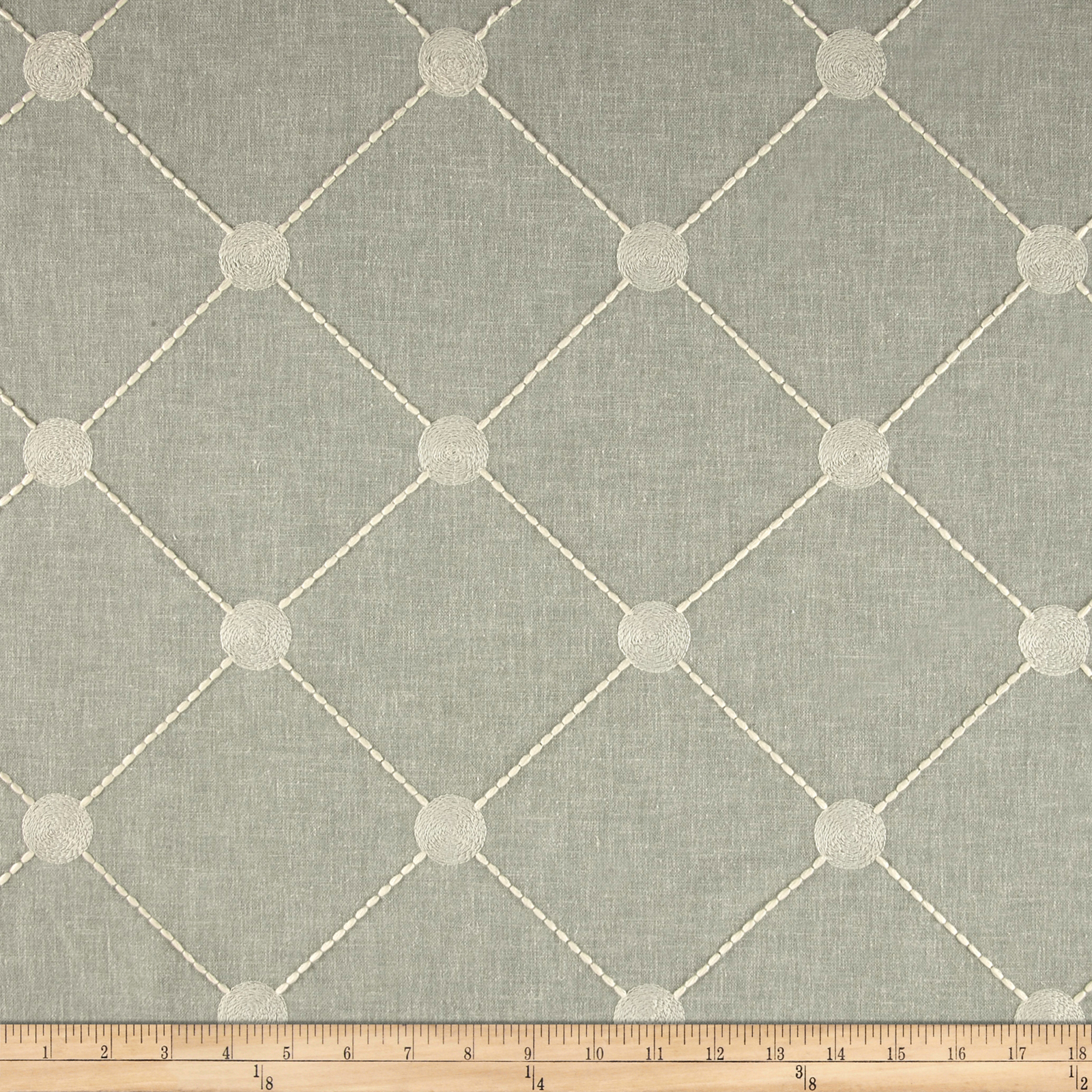 Kelly Ripa Home Fanfare Embroidered Spa Fabric by Waverly in USA