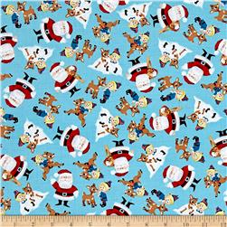 Fun With Rudolph Character Toss Blue
