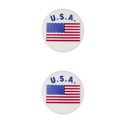 Dill Novelty Button 1'' USA White