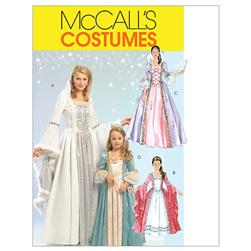 McCall's Misses'/Children's/Girls' Princess Costumes Pattern M5731 Size KID