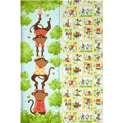 Oolie Growth Chart Panel White/Green/Yellow Fabric