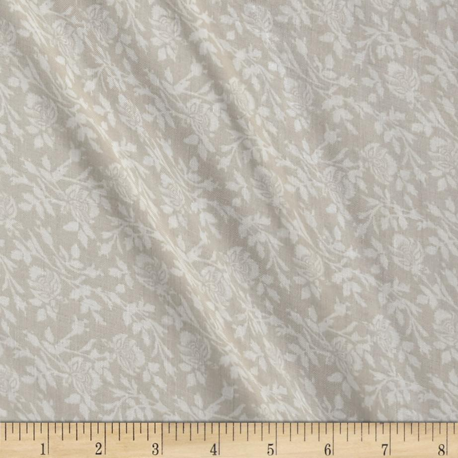 Rayon Challis Traditional Floral Beige/Cream