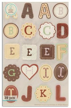 Martha Stewart Crafts Stickers Cookie Alphabet