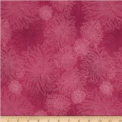 Art Gallery Elements Floral Shocking Pink Fabric