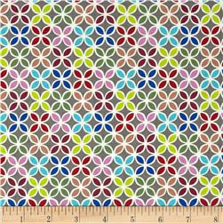Moderne Floral Grid Multi Fabric