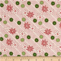 Greetings Dotted Striped Floral Cream/Red