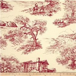 Creations Log Cabin Toile Red