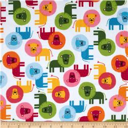 Urban Zoologie Flannel Lions Sweet Fabric