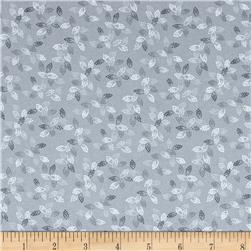"108"" Wide Spangle Quilt Back Dotted Leaf Gray"