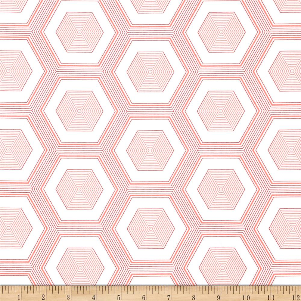 Moda Simply Style So Hexy Honey Suckle Pink