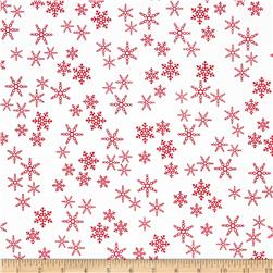 Rudolph 50 Years Snowflakes Red