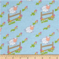 Newcastle Flannel Countdown Blue Fabric