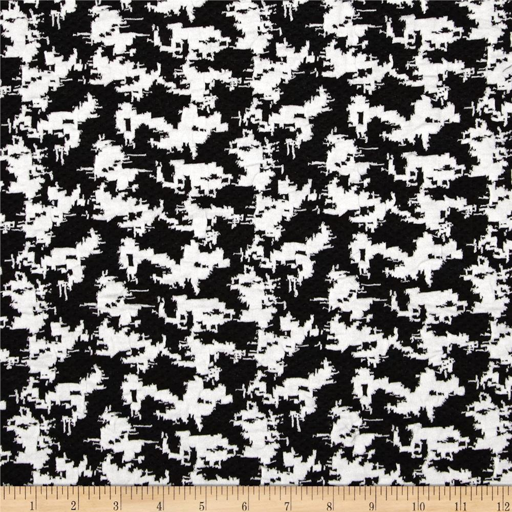 Spade Jacquard Knit Abstract Black/White
