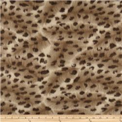 Wintry Fleece Leopard Brown