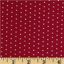 Stretch Bamboo Rayon Jersey Knit Dot Red