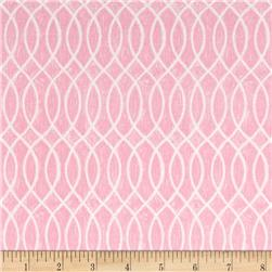 Moda Hugaboo Flannel Laced Lined Twirly Pink