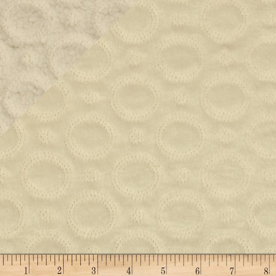 Minky Quilted Crop Circles Ivory
