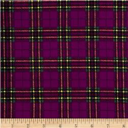 21 Wale Corduroy Plaid Purple