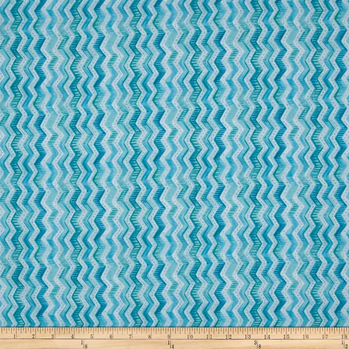 Gratitude Blooms Chevron Blue
