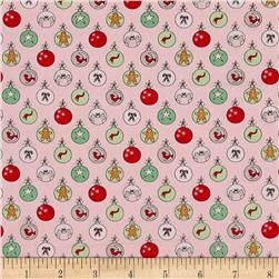 Moda Sugar Plum Christmas Shiny Brites Sugar Plum Pink