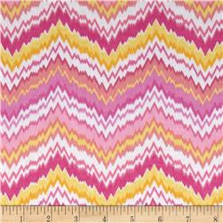 Flannel Chevron Pink/Orange/Yellow