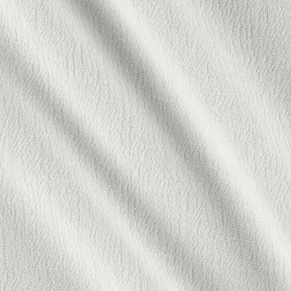 Rayon Crepe Shirting Cotton Blend Solid Ivory