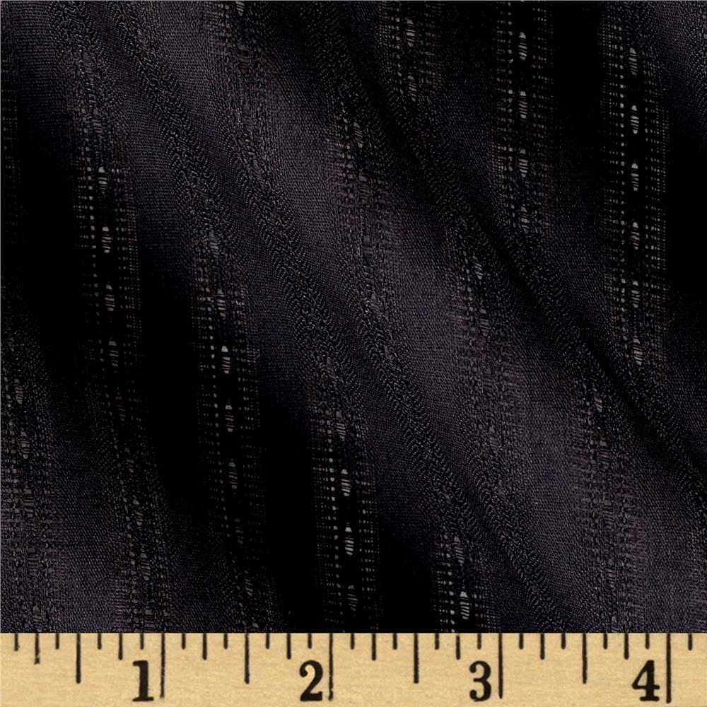 Cotton Shadow Stripe Black