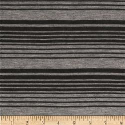 Stretch Tissue Hatchi Knit Stripe Grey