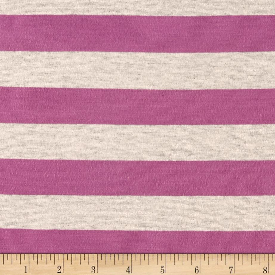 Jersey Knit Stripe Rose Purple/Oat