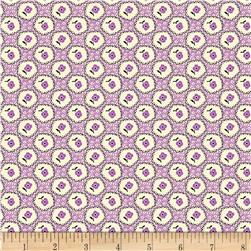 Aunt Grace Simpler Sampler Flower on Bubbles Purple