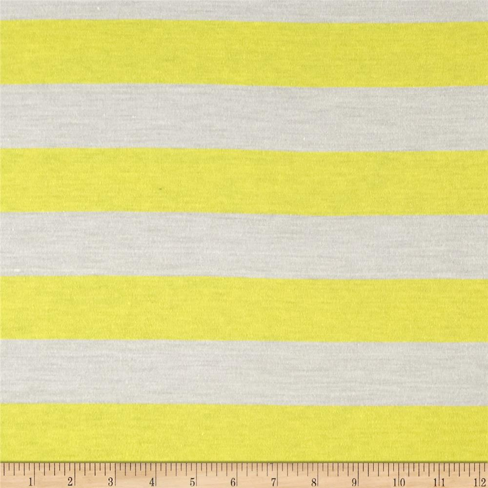Jersey Knit Stripe Yellow/White