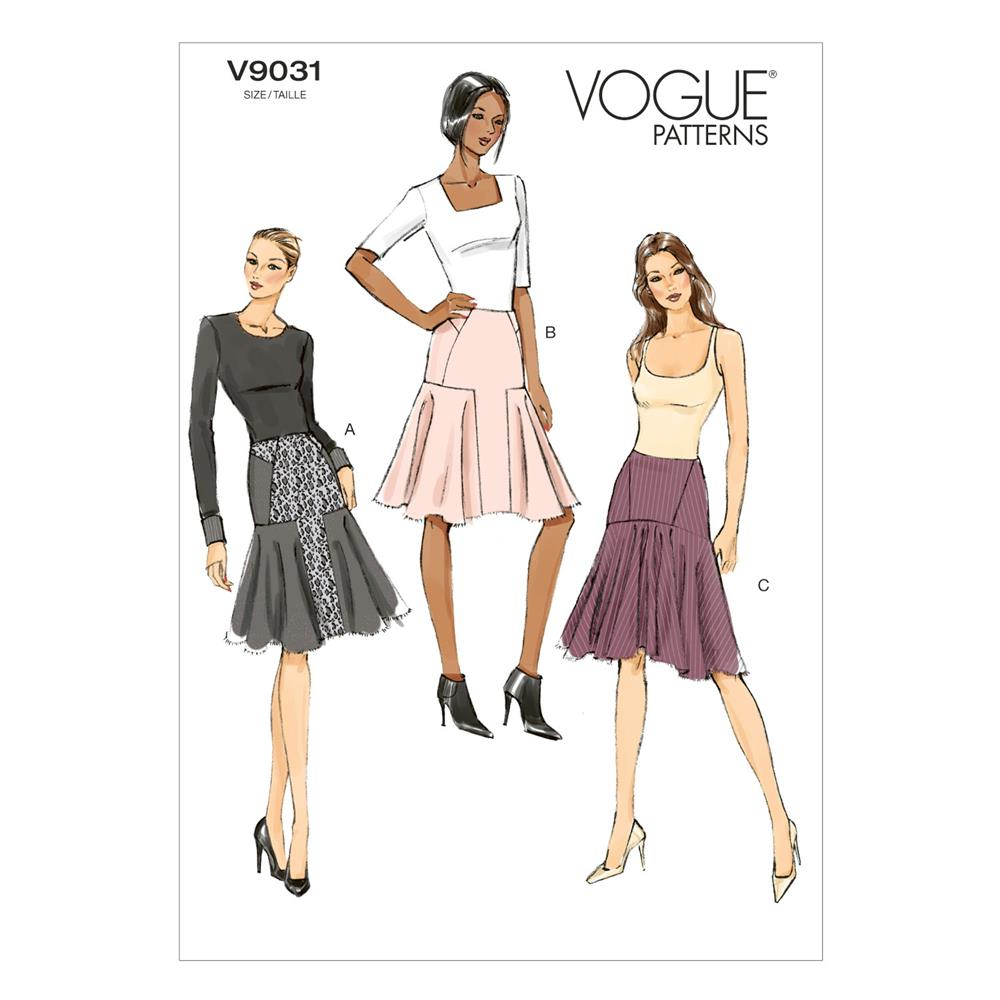 Vogue Misses' Skirt Pattern V9031 Size A50