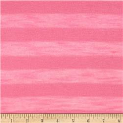 Stretch Tissue Knit Jersey Knit Shadow Stripe Pink