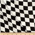 Chiffon Checkers Black and White
