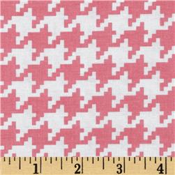 Michael Miller Everyday Houndstooth Pink Fabric
