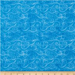 Essentials Swirly Scroll Med. Blue
