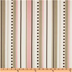Premier Prints Brook Stripe Bella Pink/Cozy Fabric
