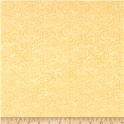 Flannel Scroll Yellow