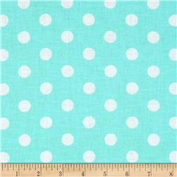 Spot On II Polka Dots Aqua/White