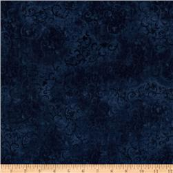 "108"" Wide Essentials Quilt Backing Scroll Indigo"