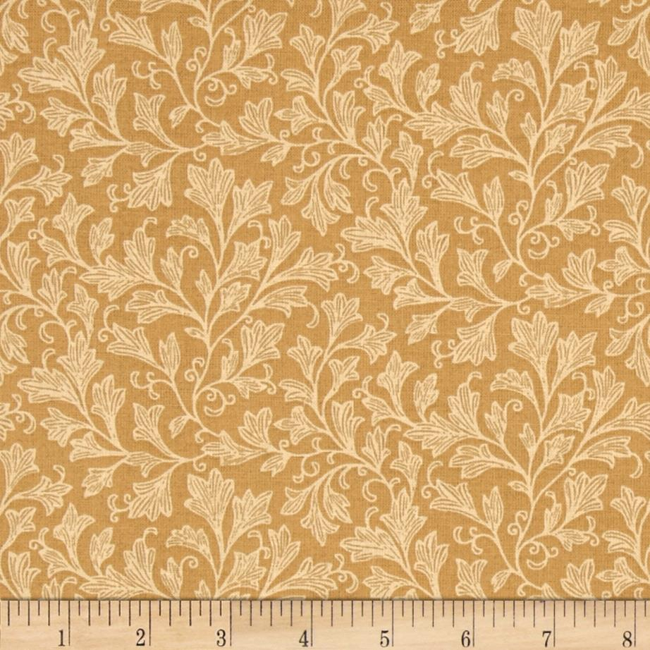 "108"" Wide Tonal Leafy Quilt Back Tan"